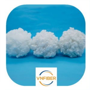 Silicone pillow filling material 100% recycled polyester staple fiber