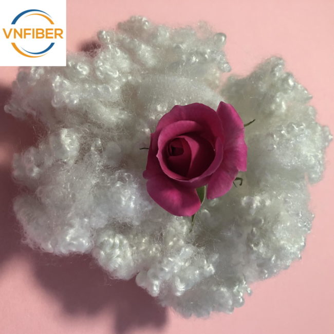 3D 51MM Superfine Recycled Polyester Fiber Hollow For Pillow Filling