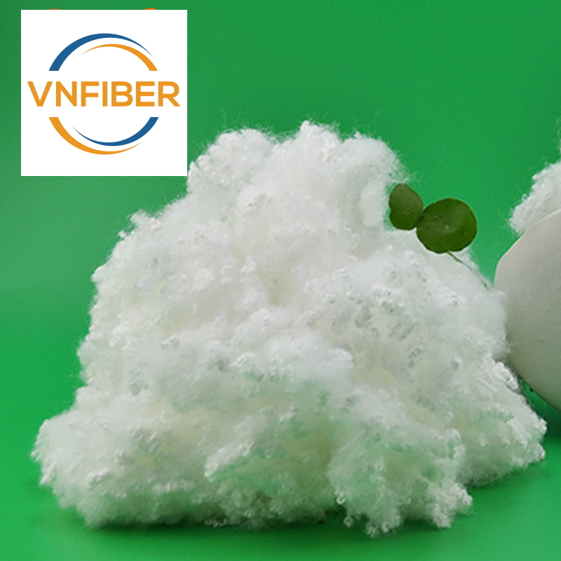 recycled polyester staple fiber 3DX64 hollow conjugated siliconized