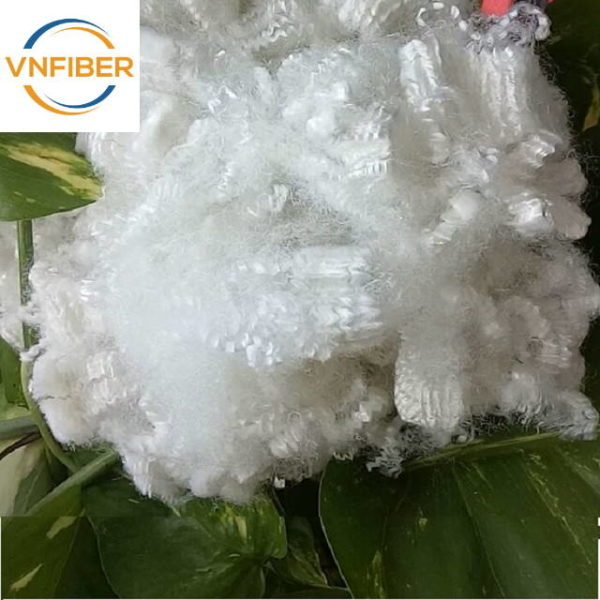 recycled hollow siliconized fiber